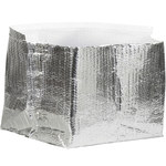 Shipping Supply Silver Insulated Box Liners - 12 in x 12 in x 6 in - 3/16 in Thick - SHP-11739