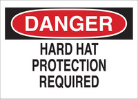 Brady B-401 Polystyrene Rectangle White PPE Sign - 10 in Width x 7 in Height - 25216