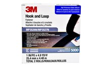 3M Dual Lock MP3526N/27N Black Reclosable Fastener - Hook & Loop - 1 in Width x 5 yd Length - 06481