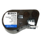 Brady M-130-492 Black on White Polyester Die-Cut Thermal Transfer Printer Cartridge - 0.825 in Width - 0.375 in Height - B-492