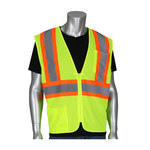 PIP 305-MVZSE Hi-Vis Yellow Large Polyester Mesh High-Visibility Vest - 2 Pockets - Fits 49.6 in Chest - 28 in Length - 616314-23103