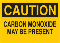 Brady B-555 Aluminum Rectangle Yellow Chemical Warning Sign - 14 in Width x 10 in Height - 43496