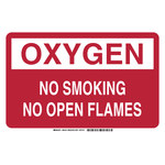 Brady B-401 Polystyrene Rectangle Red No Smoking Sign - 14 in Width x 10 in Height - 98100