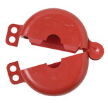 Brady Prinzing Safetee Red Gate Valve Lockout 46281 - 1 to 2 1/2 in Compatible Diameter - 754473-46281