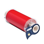 Brady 13654 Red Vinyl Continuous Thermal Transfer Printer Label Roll - 7 in Width - 50 ft Length - B-595