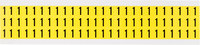 Brady 34 Series 3410-1 Black on Yellow Vinyl Cloth Number Label - Indoor - 11/32 in Width - 1/2 in Height - 3/8 in Character Height - B-498