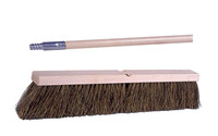 Weiler 448 Push Broom Kit - Hardwood 60 in Handle - Palmyra 4 in Bristle - 18 in Hardwood Block - 44687