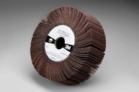3M 244E Coated Aluminum Oxide Flap Wheel - XE Weight - 1 in Face Width - 6 in Diameter - 1 in Center Hole - 35112