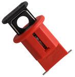Brady Red Fiberglass Reinforced Nylon Circuit Breaker Lockout System 90850 - Pin Style - 0.83 in Width - 1.64 in Height - 662820-04639