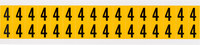 Brady 15 Series 1520-4 Black on Yellow Vinyl Number Label - Indoor / Outdoor - 9/16 in Width - 3/4 in Height - 5/8 in Character Height - B-946