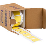 Brady Permasleeve 2HT-1000-2-YL-S-2 Yellow Polyolefin Die-Cut Thermal Transfer Printer Sleeve - 2 in Width - 1.66 in Height - 0.45 in Min Wire Dia to 0.95 in Max Wire Dia - Double-Side Printable - B-3