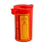 Brady Prinzing Red Polypropylene Gas Cylinder Lockout Device LM023E - 3.47 in Width - 6.25 in Height - Neck Rings Up to 3 1/2 in Diameter Compatibility - 754476-45629