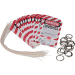 Brady WKT2 Black / Red on White Cardstock Lockout / Tagout Tag - 3 in Width - 5 3/4 in Height - B-853