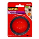 3M Scotch Black Magnetic Tape -.5 in x 4 ft - 076308-72696