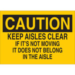 Brady B-302 Polyester Rectangle Yellow Fall Hazard Sign - 10 in Width x 7 in Height - Laminated - 85582