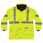 Ergodyne Glowear 8385 High-Visibility Lime Large Cold Condition Jacket - Inset Hood - Fits 38 to 42 in Chest - Thinsulate Insulation - 720476-24384