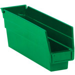 Green Shelf Bins - 11.625 in x 2.75 in x 4 in - SHP-3093