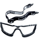 Bolle Safety Cobra 254-CB-400 Polycarbonate Foam Insert Kit - Black Frame - Non-Vented - Used with Goggles - 549172-77352