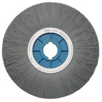 Weiler Silicon Carbide Wheel Brush 0.04 in Bristle Diameter 80 Grit - Shank Attachment - 14 in Outside Diameter - 85153
