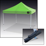 Allegro Hi-Viz Lime Polyester Utility Canopy Shelter - 11 ft Height - 9403-10