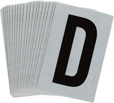 Brady Bradylite 5900-D Black on Silver Letter Label - Outdoor - 1 in Width - 1 1/2 in Height - 1 in Character Height - B-997