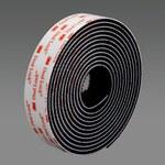 3M Dual Lock SJ3550 Black Reclosable Fastener - Mushroom Hook with 250 stems/in Stem Count - 1 in Width x 50 yd Length - 44458