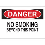 Brady B-120 Fiberglass Reinforced Polyester Rectangle White No Smoking Sign - 20 in Width x 14 in Height - 72083