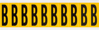 Brady 15 Series 1534-B Black on Yellow Vinyl Letter Label - Indoor / Outdoor - 7/8 in Width - 2 1/4 in Height - 1 15/16 in Character Height - B-946
