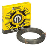 Precision Brand High Carbon, Spring Tempered, C1085 Steel Music Wire - 0.006 in Diameter - 415-459 ksi Tensile Strength - 21006