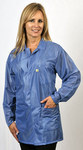 Tech Wear Large Blue Lapel ESD / Anti-Static Jacket - LOJ-23-LRG