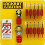 Brady Yellow Lockout/Tagout Kit -.1875 in Depth - 13.5 in Width - 13.5 in Height - 754473-63179