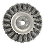 Weiler Steel Wheel Brush 0.014 in Bristle Diameter - Arbor Attachment - 3 in Outside Diameter - 13201