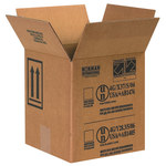 Shipping Supply Kraft 1 Gallon Paint Can Boxes - 8.5 in x 8.5 in x 9.3125 in - SHP-2225