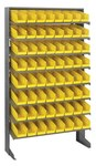 Quantum Storage QPRS-101 400 lb Yellow Gray Steel Fixed Rack - 36 in Overall Length - 60 in Height - 64 - Bins Included - 02515