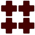 Brady 104466 Red Plus Polyester Corner Marking Label - Indoor - 2 in Width - 5 in Height - B-514