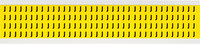 Brady 34 Series 3400-J Black on Yellow Vinyl Cloth Letter Label - Indoor - 1/4 in Width - 3/8 in Height - 1/4 in Character Height - B-498