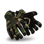 HexArmor Hex1 2121 Camo 9 Synthetic Leather Work Gloves - Silicone Palm Coating - 2121-CAM SZ 9