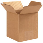 Shipping Supply Kraft Corrugated Boxes - 4 in x 4 in x 6 in - SHP-1114