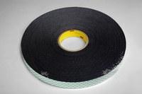 3M 4052 Black Double Coated Foam Tape - 1 in Width x 72 yd Length - 1/32 in Thick - 14557