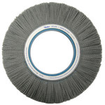Weiler Silicon Carbide Wheel Brush 0.04 in Bristle Diameter 80 Grit - Arbor Attachment - 12 in Outside Diameter - 5 1/4 in Center Hole Size - 83750