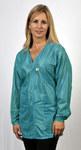 Tech Wear Large Teal V-Neck ESD / Anti-Static Jacket - VOJ-83-L