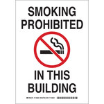Brady B-558 Recycled Film Rectangle White No Smoking Sign - 7 in Width x 10 in Height - 118148