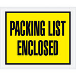 Yellow Packing List Enclosed Full Face Envelopes - 4.5 in x 5.5 in - 2 Mil Poly Thick - SHP-8199