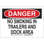Brady B-555 Aluminum Rectangle White Restriction Sign - 10 in Width x 7 in Height - 128142