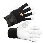 Impacto Air Glove BG473 Black/White Large Leather/Nylon/Spandex Work Gloves - BG47340