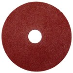 Weiler Coated Aluminum Oxide Fiber Disc - Fiber Backing - 80 Grit - Medium - 4 1/2 in Diameter - 7/8 in Center Hole - 59577