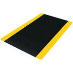 Black/Yellow Diamond Plate Anti-Fatigue Mat - 3 ft x 5 ft - SHP-8743