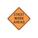 Brady B-959 Aluminum Square Road Construction Sign - 30 in Width x 30 in Height - 113299