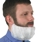 Kimberly-Clark Kleenguard A10 White XL Polypropylene Beard Cover - 036000-66816