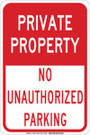 Brady B-555 Aluminum Rectangle White Parking Restriction, Permission & Information Sign - 12 in Width x 18 in Height - 129600
